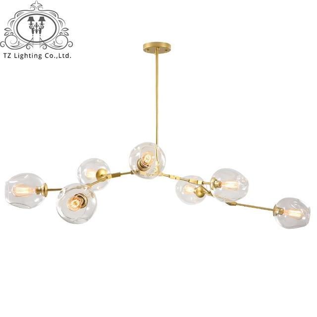 TZ Modern Sputnik Chandelier Lighting Society Clear Smoke Glass Lamp Shade Black Gloden Painted Fixtures Suspension Thurston