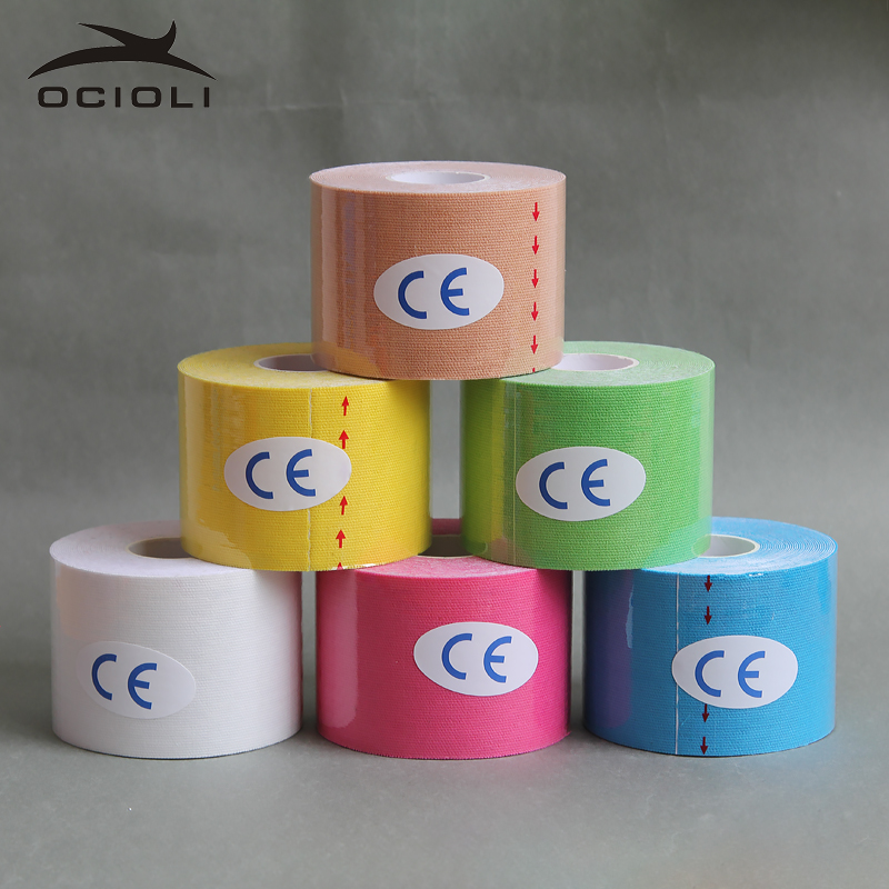 6 Roll 5cm X 5m Sports Kinesiology Tape Kinesio Roll Cotton Elastic Adhesive Muscle Bandage Strain Injury Support Football