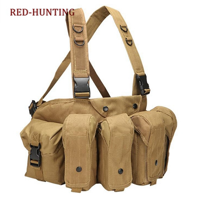 Outdoor Hunting Vest Tactical Chest Rig Pouch Magazine Holder Bag Modular Military With Ak 47