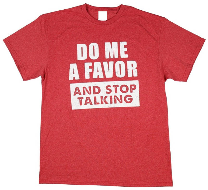 New Fashion For Sleeve Short  Do Me A Favor And Stop  100% Cotton Crew Neck Tee For Men