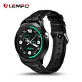 Lemfo smartwatch mtk2502 gw01 smart watch couro metal heart rate monitor para ios android phone