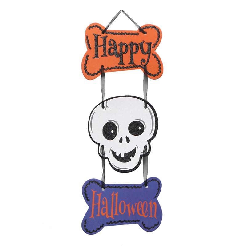Happy Halloween Door Hanger Skull Decor Halloween Party Supplies  Decorations(China)