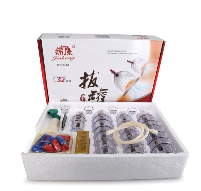 Cheap 32 Pieces Cans cups chinese vacuum cupping kit pull out a vacuum apparatus therapy relax massagers curve suction pumps cheap 12 pcs cups vacuum cupping massage therapy body beauty relax chinese medical apparatus therapy suction cupping massagers