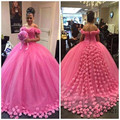 robe mariage Ball Gown Wedding Vintage Dress Cloud buy direct from china Off the Shoulder Flower Puffy Bride Dresses 2017