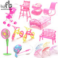 Fashion Cute Baby car Bed Chair Bicycle Cleaner Fan for Doll Toy Accessories Gift different style