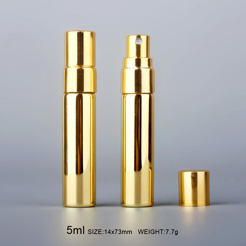 Image 2 - Wholesale 5ML Colorful Glass Perfume Bottle Spray Refillable Portable Mini Sample Perfume Bottle Atomizer Cosmetic Contaier-in Refillable Bottles from Beauty & Health