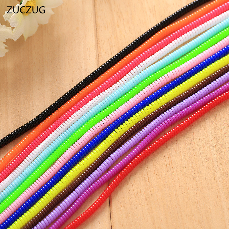ZUCZUG 3pcs 60cm Spiral Cord Protector Wrap Cable Winder For USB Charger Cable Cute Animal Organizer For Data Cable Earphone