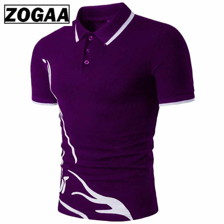 ZOGAA Mens Polo Shirt Brands Male Short Sleeve Casual Slim Solid Color Polo Shirt Anti-shrink Quick Dry Outdoor Polo Shirt Men