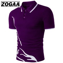 ZOGAA Mens Polo Shirt Brands Male Short Sleeve Casual Slim Solid Color Anti-shrink Quick Dry Outdoor Men