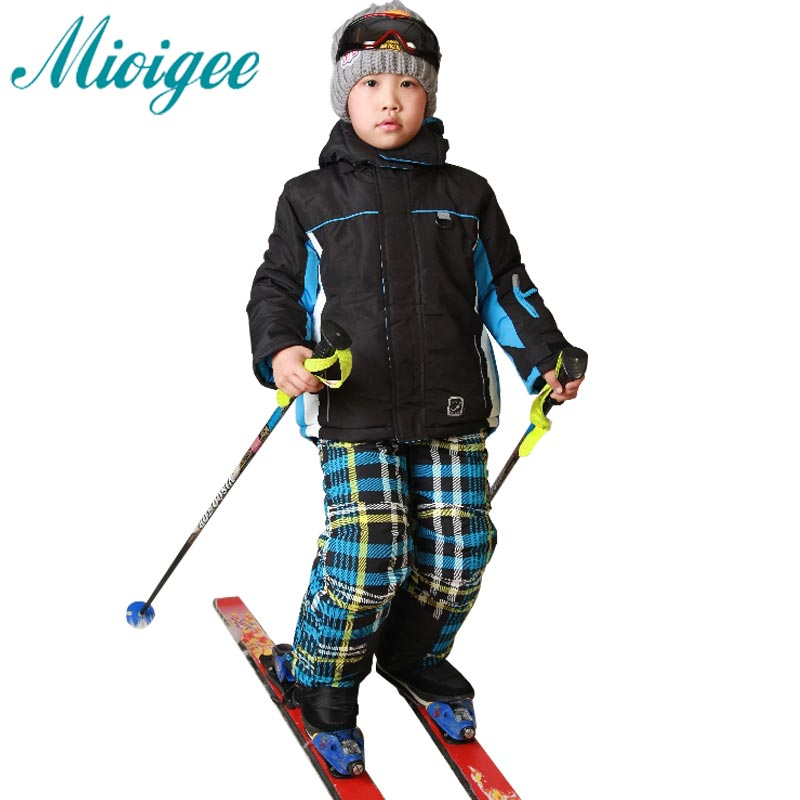 d50125b81 Free shipping waterproof jacket gsou snow ski suit set boys ...