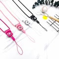 2016 new multi color neck hand cell phone straps keychain Charm Cords DIY Hang Rope long nylon wire Lariat Lanyard