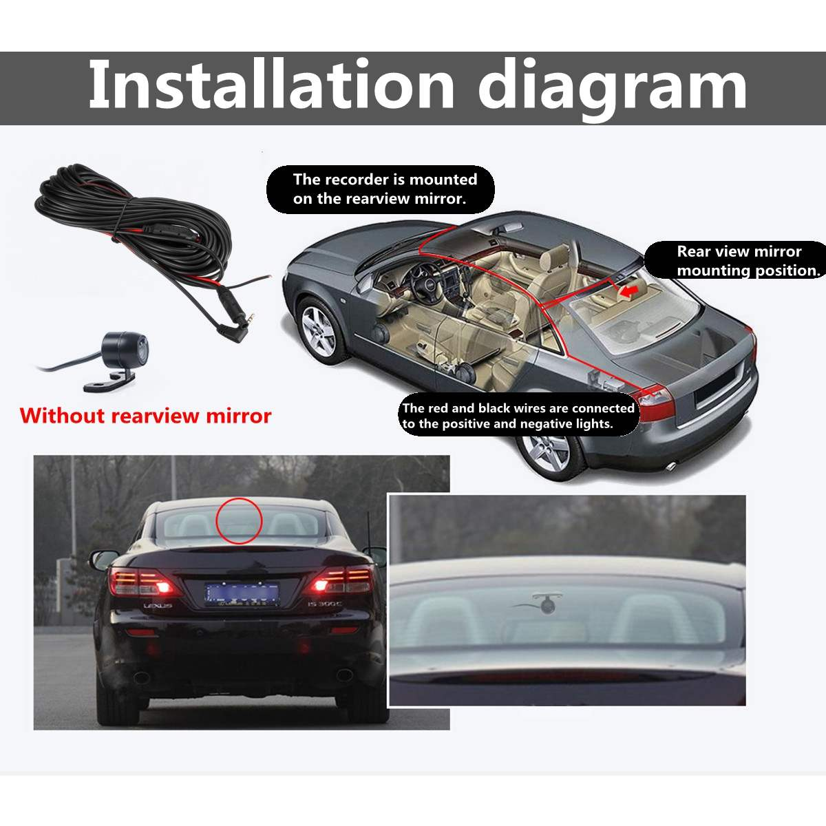 Backup Camera With Aux Cable Wiring Diagram from ae01.alicdn.com
