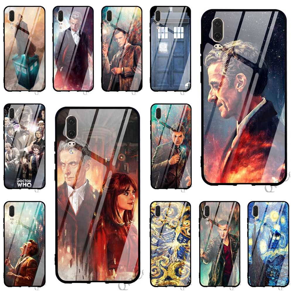 Fitted Cases Print Tardis Box Doctor Who Glass Phone Cover For Huawei Mate 20 Case P Smart P20 Pro 10 7a Y6 Y9 Honor 9 P10 Lite Silicone To Invigorate Health Effectively