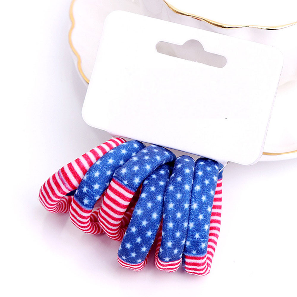 Hot Sell 6PCS/1set Toddler Kids Children Girls Floral Hair Ring Hair Rope Accessories n# dropship