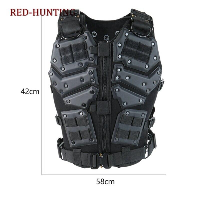 Molle Tactische Vest Combat TF3 Body Vest Protector Black Training Vest - 5