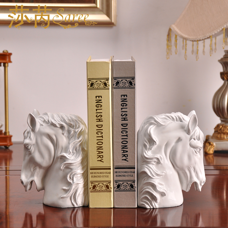 Shakespeare Rui of modern Chinese Horse Bookends resin decoration crafts office desktop utility library