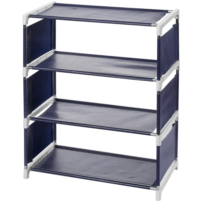 Simple Multi layer Shoe Rack Household Dust Cloth Shoes Storage Rack Economy Type Space Dormitory Shoe Rack Shoe Cabinet in Shoe Racks Organizers from Home Garden