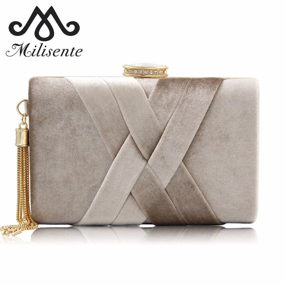 Milisente New Arrival Women Bags for Winter Handbag Top Quality Suede Clutches Purse Ladies Tassels Evening Bag Wedding Clutches handbag