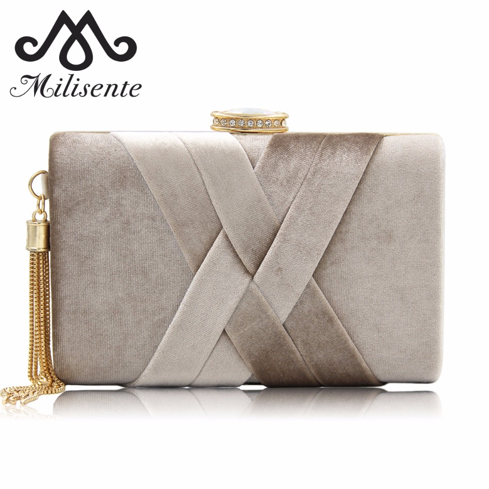 Milisente 2018 New Arrival Women Clutch Bags Top Quality Suede Clutches Purses Ladies Tassels Evening Bag Wedding Clutches milisente brand women evening bags top quality fantasy rose party purse clutches wedding bag