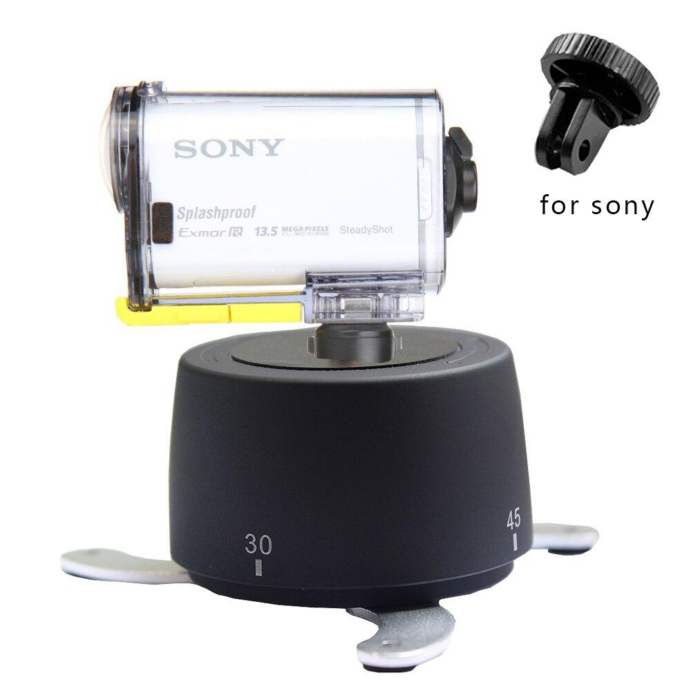 360 Degrés 60 Minutes Panoramique Rotation Trépied Accéléré Stabilisateur Trépied Adaptateur pour Sony D'action Caméra HDR AS100 AS30 AS20/15