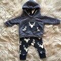 2 pçs/set Moda Polka Dot Roupas Bebê Recém-nascido menino Kit Traje Bodysuit Calças Cardigan Desgaste Terno Infantil Roupa Da Menina Crianças