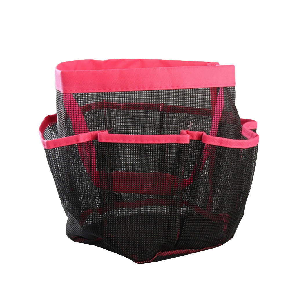Portable Quick Dry Shower Caddy Tote Bag Hanging Toiletry Mesh Bag With 8 Pockets Bathrooms Organizer For Dorm Gym Camp Travel Storage Bags Aliexpress