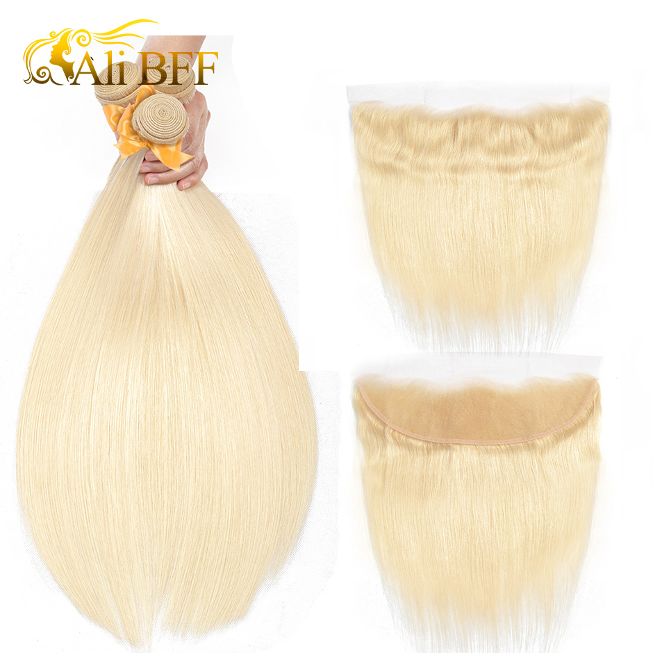 ALIBFF 613 Bundles With Frontal Peruvian Hair