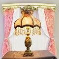 Европейский сад настольная лампа принцесса свадебные украшения лампы смолы кружевной ткани спальня СВЕТОДИОДНЫЕ лампы