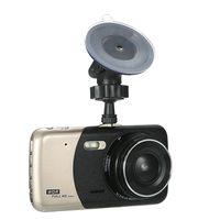KKmoon 4 Dual Lens Car DVR Dash Cam Camera Camcorder LED Night Vision / Motion Detection / Loop Recording