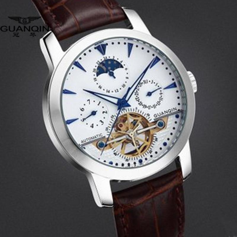 Guanqin 고품질 뚜르 비옹 시계 고급 남성 기계식 시계 guanqin 사파이어 자동 방수 100m 남자 시계 a-에서기계식 시계부터 시계 의  그룹 3