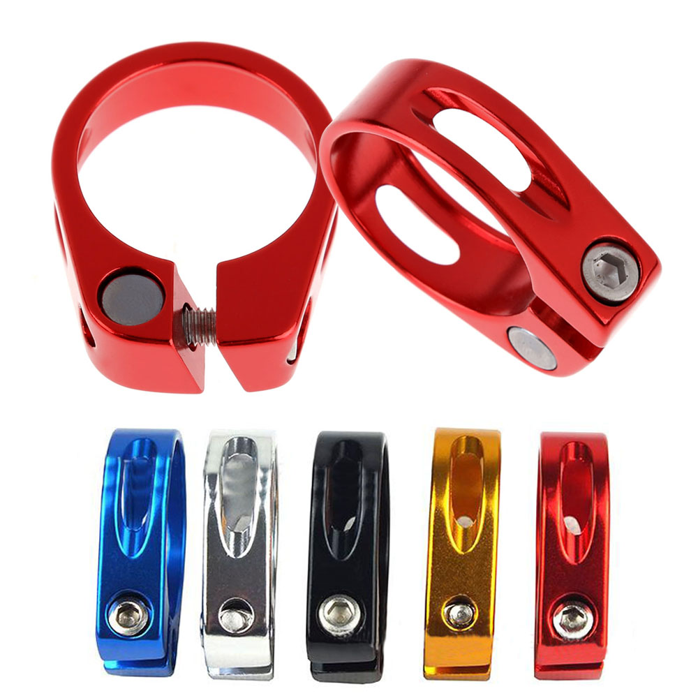 MTB Bike  Seat Post Clamp 34.9mm Aluminum Alloy Bicycle Cycling Saddle Seat Post Clamp Fit For 30.8mm Or 31.6mm Seatpost  SS