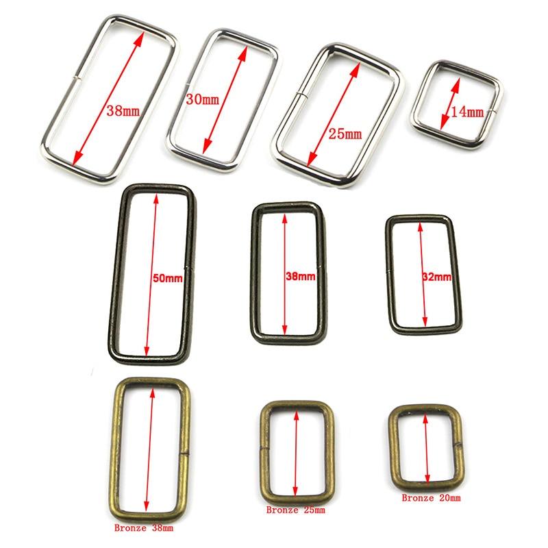 10pcs/lot Metal Adjustable Rectangle D Ring Belt Ribbon Buckle For Backpacks Shoes Bag Cat Dog Collar Buckles DIY Accessories