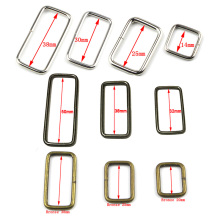 10 шт./лот, металлические регулируемые прямоугольные d-образные кольца, пряжки для ремня, пряжки для рюкзаков, обуви, сумок, кошек, собак, ошейников, аксессуары для самостоятельной сборки