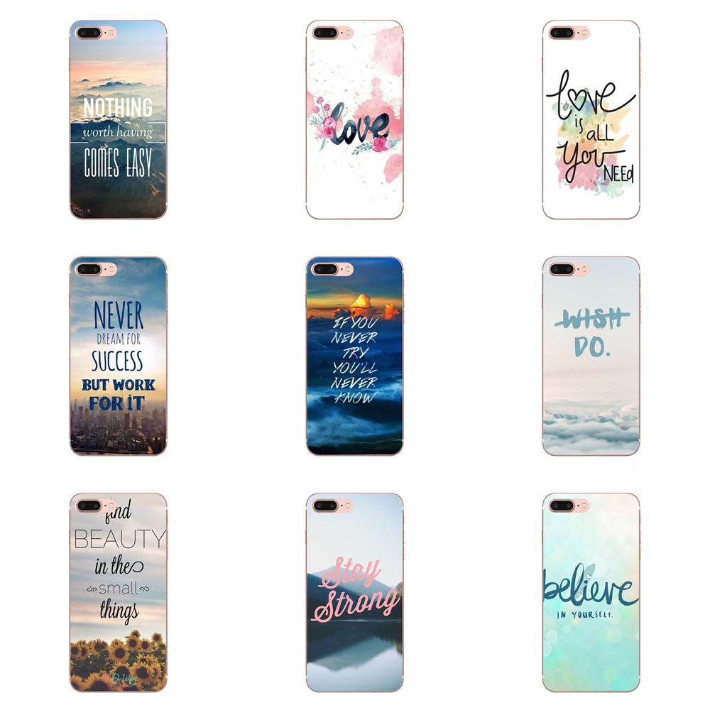 Soft Cover <font><b>Cases</b></font> For <font><b>Huawei</b></font> P7 P8 <font><b>P9</b></font> P10 P20 P30 <font><b>Lite</b></font> Mini Plus Pro 2017 2018 2019 Inspirational Motivational Love Quotes image