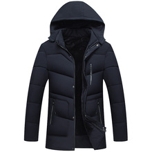 HOBO 2018 men with hair thickening men s cotton In the winter Hooded warm down cotton