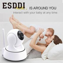 Esddi New HD 720P 1.0MP WiFi IP Network Camera Security Cam Baby/Pet Monitor Professional Home Safety Consumer Camcorders Gift