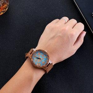 Image 4 - פרימיום פקק עץ השיש עיצוב שעוני יד Mens נשים יד קוורץ שעון גברים גבירותיי רך חומר עור רצועת לקשט שעונים