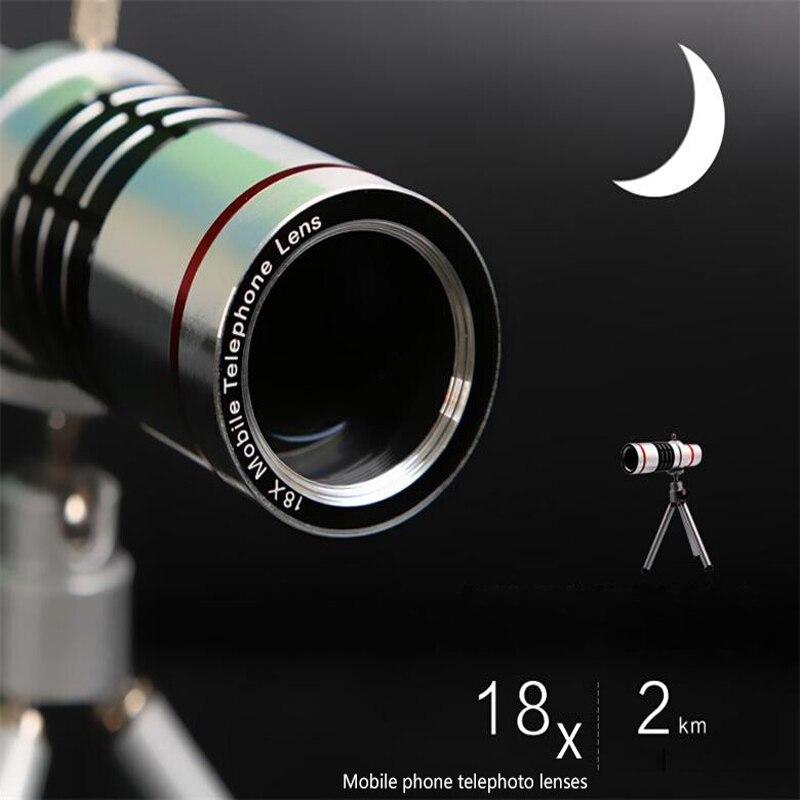 bilder für 2017 Objektiv-handy-foto-objektiv Kit 18x Zoom Optische Teleskop-teleobjektiv für HUAWEI P9 P10 PLUS Honor 8 9 mate9 Mit Stativ Clips