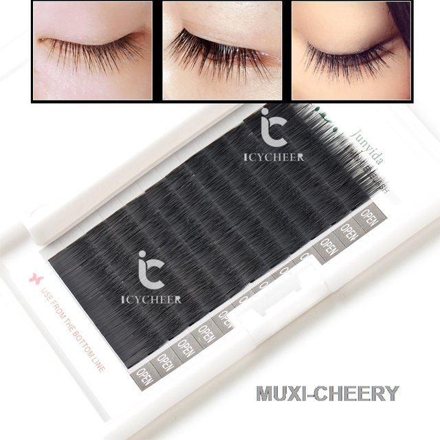 fd2117368e8 ICYCHEER Faux Mink Makeup Straight False Individual Eye Lashes Extension  Baby Eyelashes