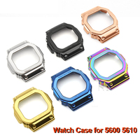2019 New Wire Drawing Stainless Steel Watch Case Replacement Refit Watch Protection Case Watchband for casio 5600 5610 watch