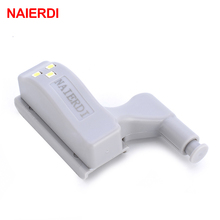 Brand NAIERDI Universal Kitchen Bedroom Living room Cabinet Cupboard Closet Wardrobe 0.25W Inner Hinge LED Sensor Light System