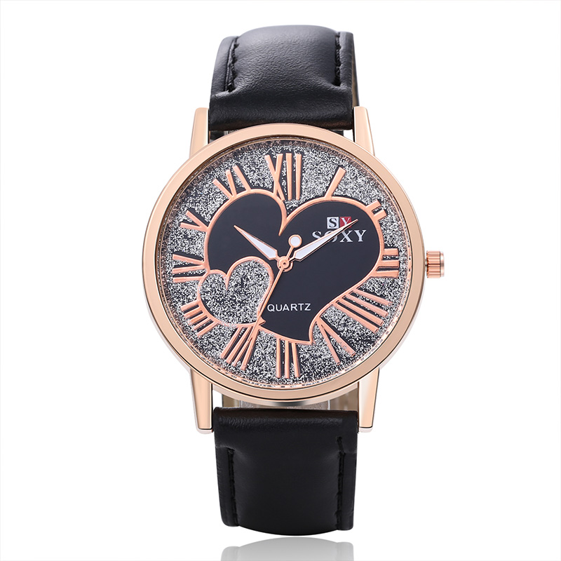 2019 SOXY Top Brand Watch Women Fashion Leather Quartz Watch Luxury Gold Watches Leather Strap Heart-shaped Clock Relogio