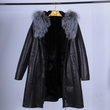 real Collar Fox Fur Women Coat Winter Fashion suedette Faux Slim Hooded Thickened Fur Suede Bust 140 CM New Factory wholesale