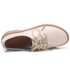 Image 5 - OUKAHUI Autumn New Fashion Small Size 33 41 British Style Oxford Shoes For Women Genuine Leather Square Heel 3.5cm Casual Shoes