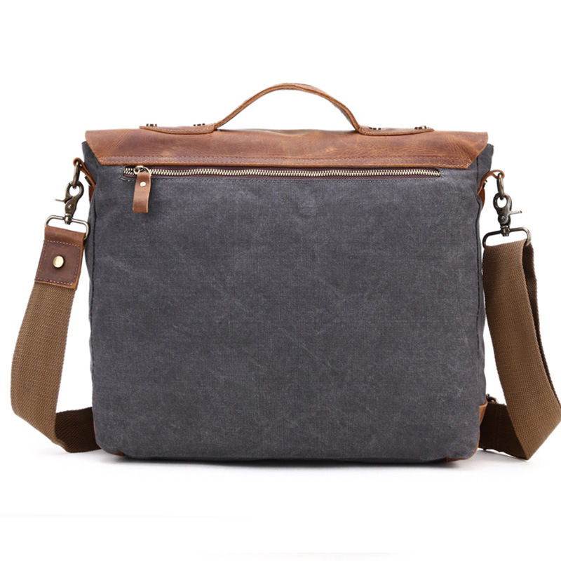 Genuine Leather Mens Crossbody Bags Computer Bag Vintage Crazy Horse Men Shoulder In From Luggage On