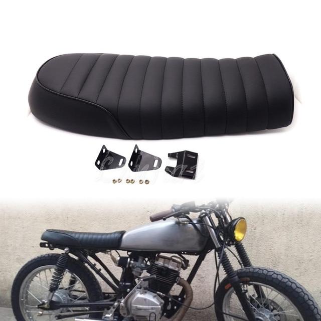 US $33 83 6% OFF|Black Flat Brat Saddle Vintage Cafe Racer Seat For Honda  CB350 CB400 CB650 CB160 on Aliexpress com | Alibaba Group