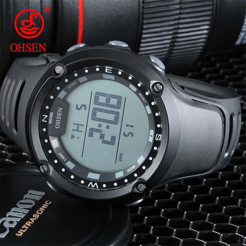 OHSEN Brand LED Digital Watch Men Watches Ladies Sport Wrist Watch Electronic Female Women Clock Montre Femme Relogio Feminino