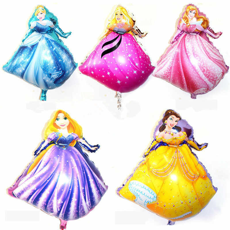 XXPWJ new 5pcs-lots of new princess aluminum balloons party balloons wholesale children's toys  X-052