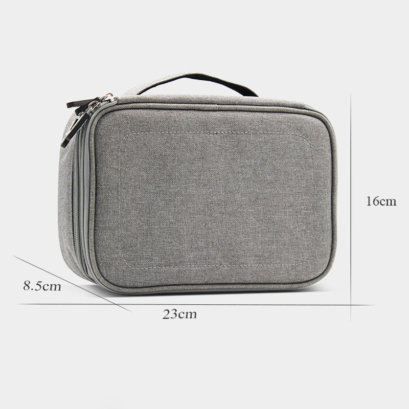 Electronic Accessories Data Cable Organizer Bag Double Layers Travel USB Charger Storage Case MSJ99