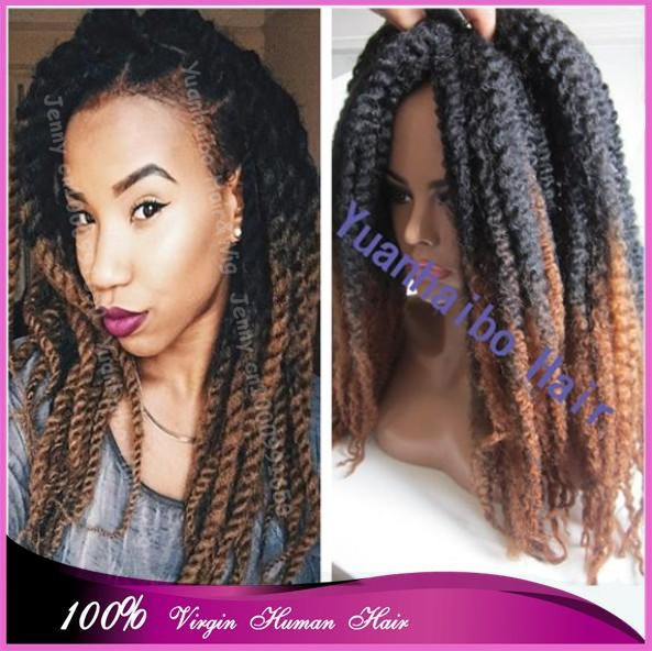 Marley Twist Hair Free Shipping Large Stock Price 20 Fold 1bt 4 Two Tone Ombre Synthetic